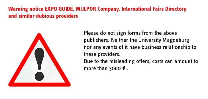 Warning notice EXPO GUIDE, MULPOR Company, International Fairs Directory and similar dubious providers